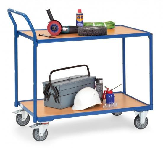 Fetra Tischwagen mit Holzwerkstoffplatten 2 Etagen 985x500x1040mm Außenmaß