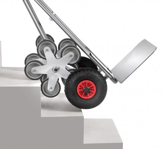Fetra Aluminium-Treppenkarre, mit fünfarmigen Radsternen, Schaufelbreite 480mm