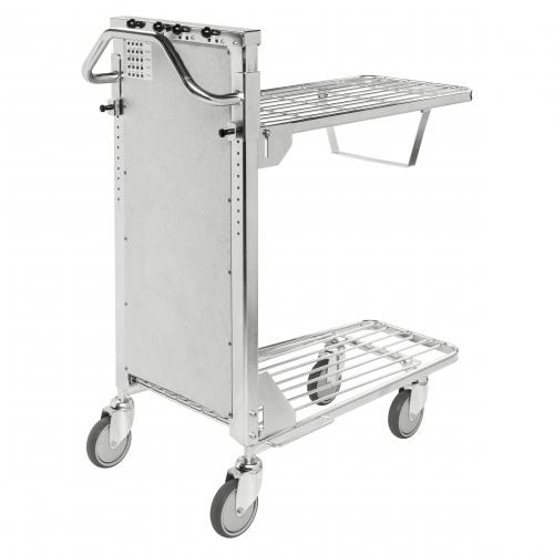 Kongamek Einkaufswagen mit 2 verstellbaren Böden Gummibereifung Ø125mm wahlweise mit Bremse
