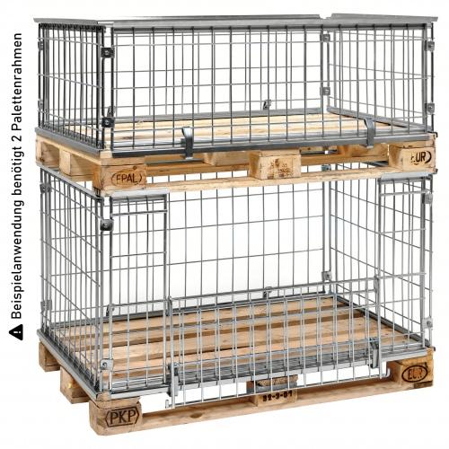 Kongamek Palettencontainer verzinkt 420-1020mm hoch passend zu Europaletten 1200x800mm
