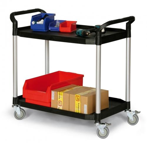 Protaurus Kunststoff- Etagenwagen mit 2 Ladeflächen 915x520mm
