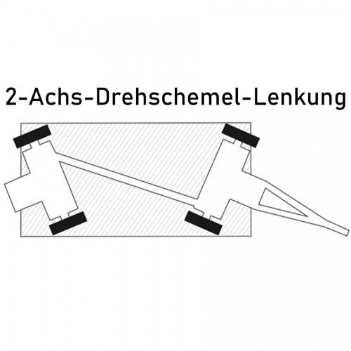 Rollcart Industrieanhänger mit 2-Achs- Drehschemel- Lenkung 2000-5000kg Tragkraft Vollgummi/Luftbereifung