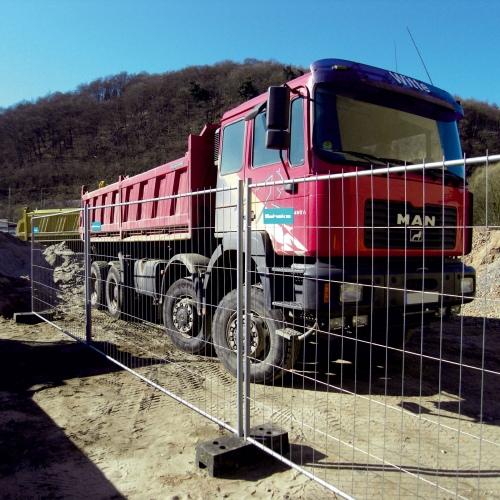 Schake Mobilzaun Profi S 3,5x2m mit angeschweißten Haken und Ösen