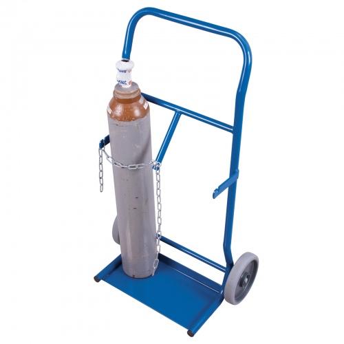 VARIOfit Stahlflaschenkarre 50 kg Traglast für 2 Flaschen a 10 Liter