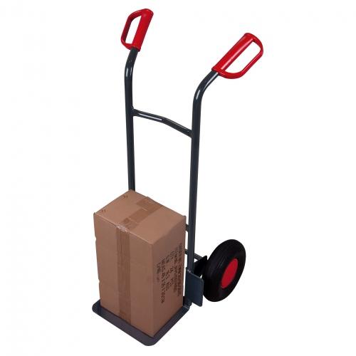 VARIOfit Stahlrohrkarren 200kg Traglast mit gebogenen Querstreben und Sicherheitshandgriffen
