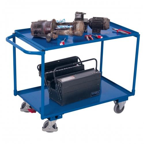 VARIOfit Tischwagen mit Gitterrost und 2 Ladeflächen 995x595mm