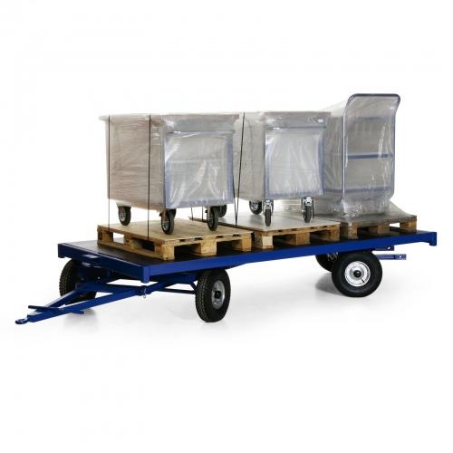 Protaurus Industrie-Anhänger mit 35º Doppel-Drehschemel 3t Traglast Vollgummi 2000x1000mm