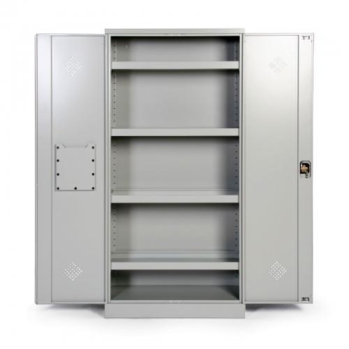 Protaurus Umweltschrank mit 4 Wannenböden Korpus und Türen in RAL 7035