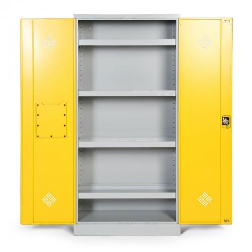 Protaurus Umweltschrank mit 4 Wannenböden Korpus in RAL 7035, Türen in RAL 1021